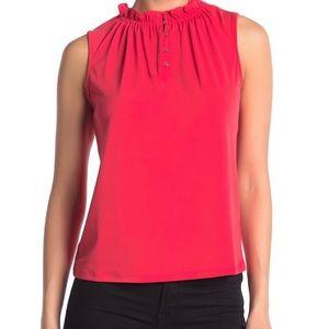 Adrianna Papell ruffle neck sleeveless top